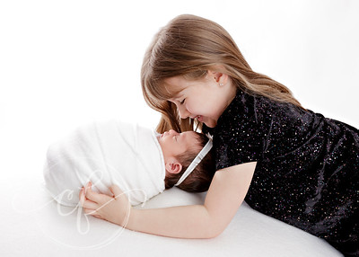 Sibling and Newborn Photo