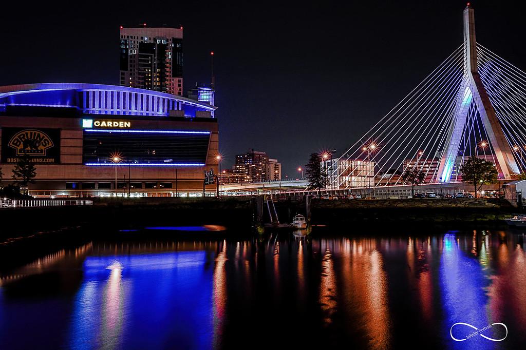 Boston Garden, Zakim Bridge, Boston