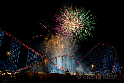 Fireworks at Blackpool Pleasure Beach