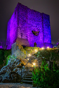 Clitheroe Castle - Lit up Purple