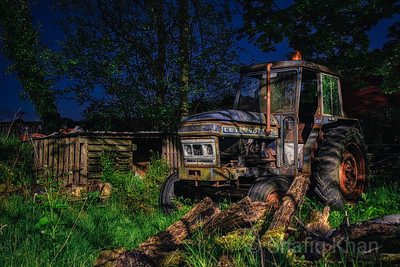 Abandoned Tractor at Moulden Brow, Blackburn