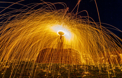 Steel Wool Spinning on the Colourfields Panoptican