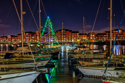 Preston Marina during Christmas