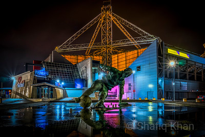 Preston North End Football Stadium with the Sir Tom Finney Statue