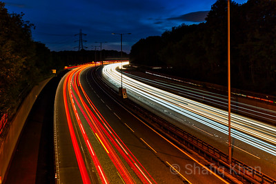 Light Trails on the M60 Motorway near Bury