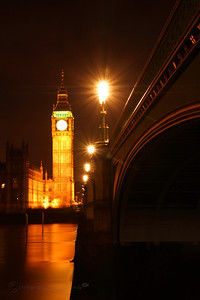 The beautiful golden colours of Westminster