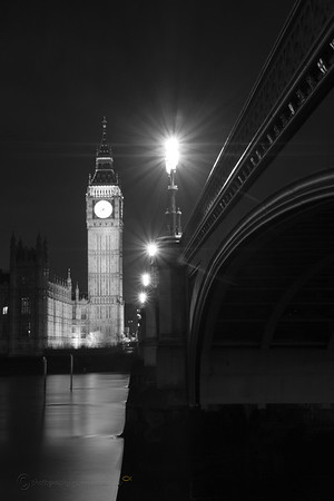 Westminster in Black & White