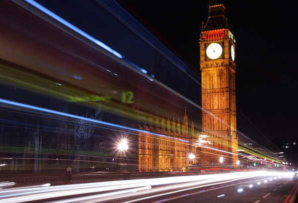 Westminster light trails