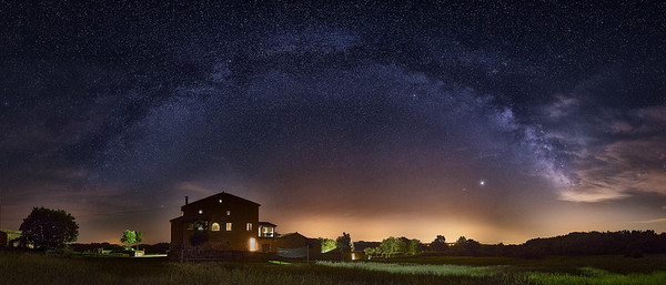 Milkyway over Berga