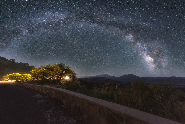 The Arc of Milky Way at Fort Davis Mountains, Texas