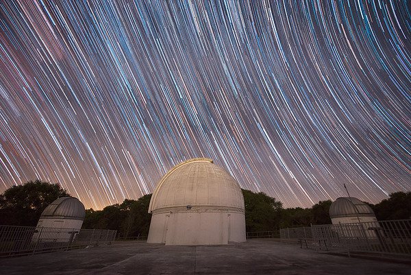 Star Trails over George Observatory @ Brazos Bend State Park near Houston, Texas