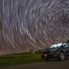 StarTrails over Toyota Highlander at Yogi Bear's Jellystone Park - Waller, Texas