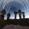 Star Trails over South Pointe Park at Miami Beach, Florida