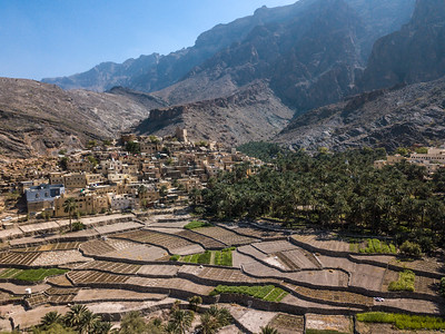 Aerial view of an old Omani village.