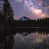 Mount Lassen Milky Way, Reflection Lake