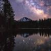 Mount Lassen Milky Way, Reflection Lake
