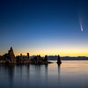 Neowise Comet Over South Tufa, Mono Lake