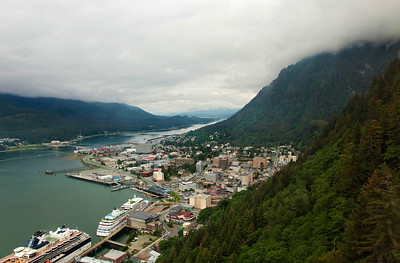 Juneau, Alaska Downtown Juneau viewed from Mount Roberts.