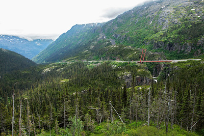 Klondike Highway, Alaska A view of the Klondike Highway outside Skagway.