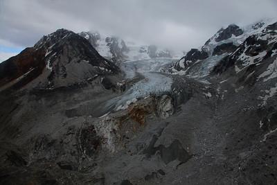 Denali, Alaska En route to Yanert Glacier on the east side of Denali National Park and Preserve, we traveled past many glacier covered valleys.