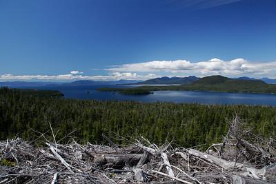 Ketchikan, Alaska A beautiful day overlooking the Inside Passage just north of Ketchikan near Whipple Creek.