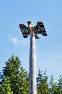 Ketchikan, Alaska A totem on a pole in downtown Ketchikan.