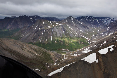 Denali, Alaska As we cross over a ridge the valley opens before us, and we follow it up to the timberline.