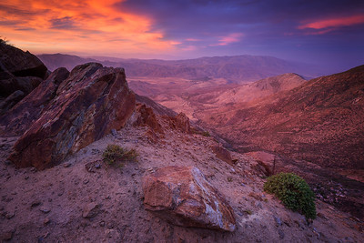 California: Sunset at the Pacific Crest Trail overlooking the Anza-Borrego desert.