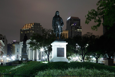 New Orleans, Louisiana A statue of Benjamin Franklin in Lafayette Square in the Central Business District of New Orleans.