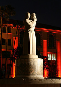 """San Diego Administration Building """"Guardian of Water"""" sculpture, dedicated on June 10, 1939"""