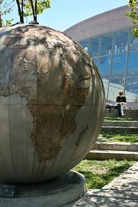 Globe in Yerba Buena Gardens