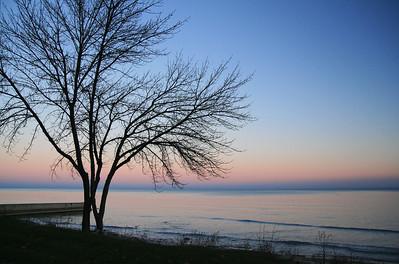 Milwaukee, Wisconsin Lake Michigan at Sunset