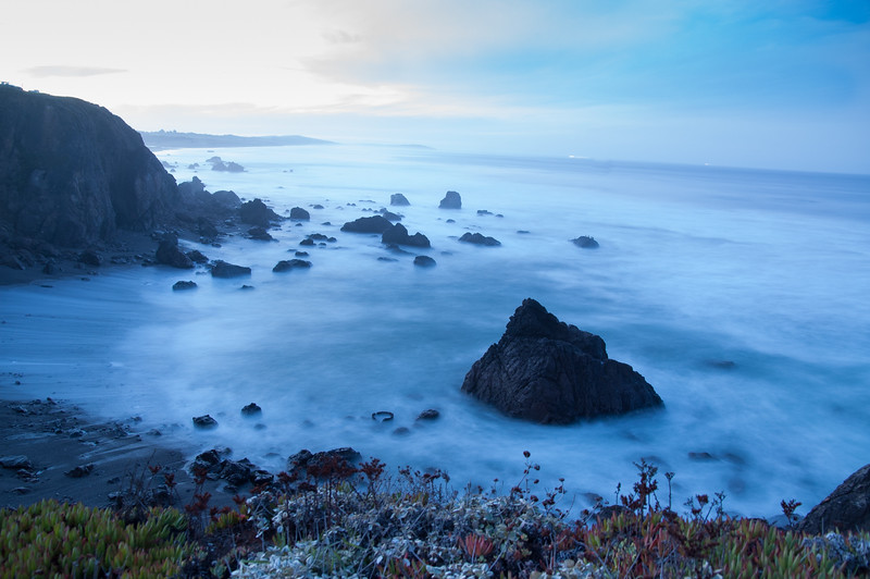 Sunrise on the pacific coast, Sonoma County, CA