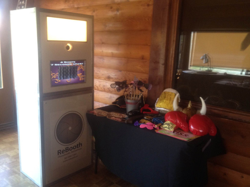 Our photo booth unit #2 - Features Live View Monitor, On-site Printing, DSLR Camera, Studio Strobe Light/Flash.