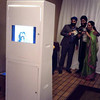 Our photo booth unit - back view. The slideshow monitor at the back shows all the individual pictures taken by the camera in real time. A good entertainment for those who are waiting inline.