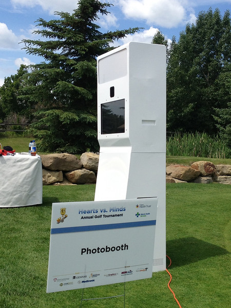 Our photo booth unit - side view - very portable and could be use in a indoor or outdoor settings. It has a simple and elegant design that could be use to any type of events.
