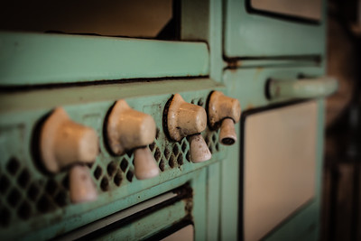 Details on a Vintage bakery oven at Commonwealth restaurant Cambridge, MA