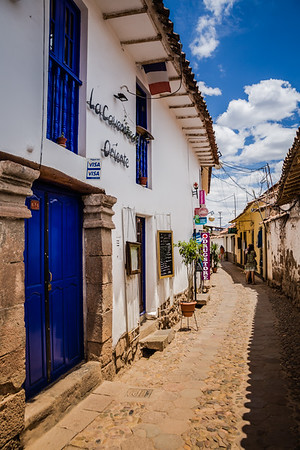 colourful lane in Cusco