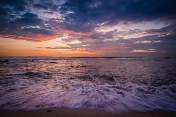 the colours of a sunrise