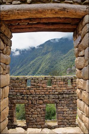 view from the Machu Picchu Inca ruin