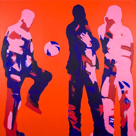 Hangout Time / acrylic on canvas / 130cm x 130cm / original SOLD / image 8477