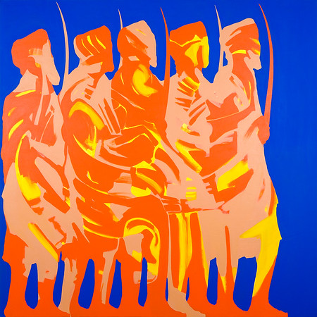 Vaisakhi (The Five Beloved Ones) / acrylic on canvas / 130cm x 130cm / original SOLD / image 8474