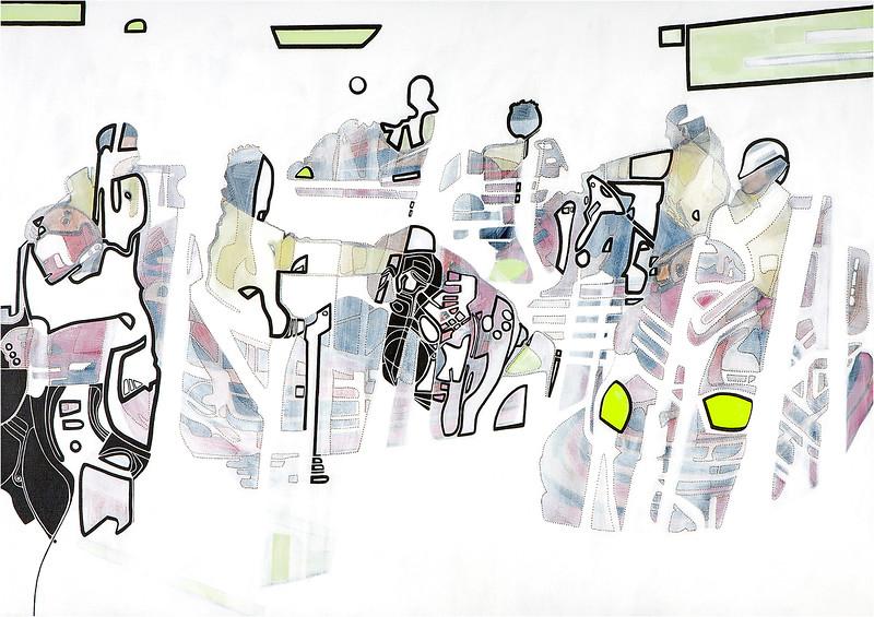 Arcade I / mixed media on canvas / 69.5cm x 99.5cm / original £300 / image 8379
