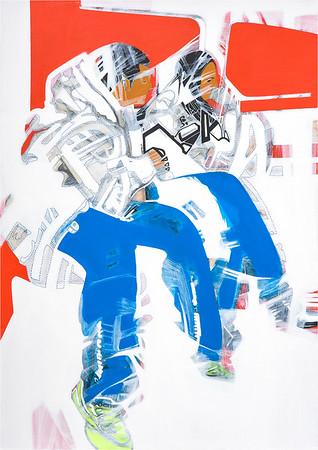 Boy & Girl II / mixed media on canvas / 99.5cm x 69.5cm / original £495 / image 7720