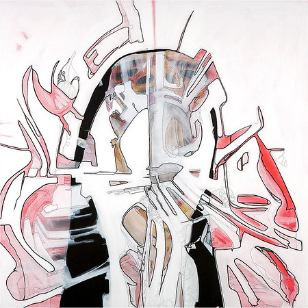 Anger / mixed media on canvas / 90cm x 90cm / original £300 / image 8397