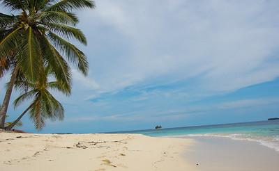 Paradise cay in San Blas