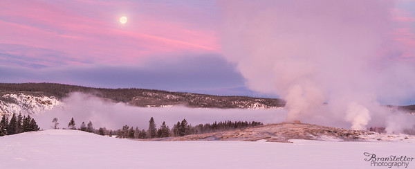 Old Faithful Moonset