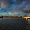 Buckie Harbour, Moray, Scotland.  A 180 degree panoramic of Buckie Harbour.