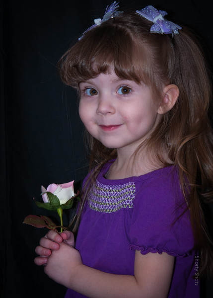 Kaylea with a Flower