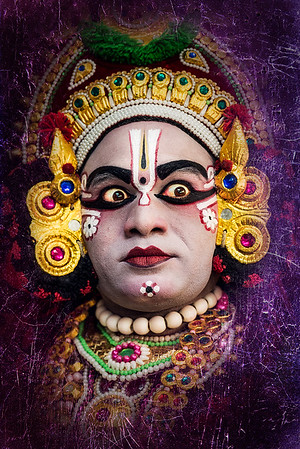 Yakshagana (a traditional theater form that combines dance, music, dialogue, costume, make-up, and stage techniques with a unique style and form)